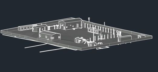 3D Rendered Model of the Gas Plant Infrastructure